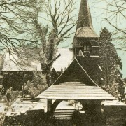 Sketty Church in snow, 1903