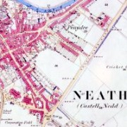Ordnance Survey Map of Neath Centre, 1877